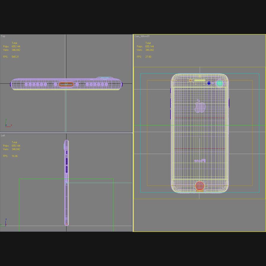 Apple iPhone 7 Gül Altın royalty-free 3d model - Preview no. 45