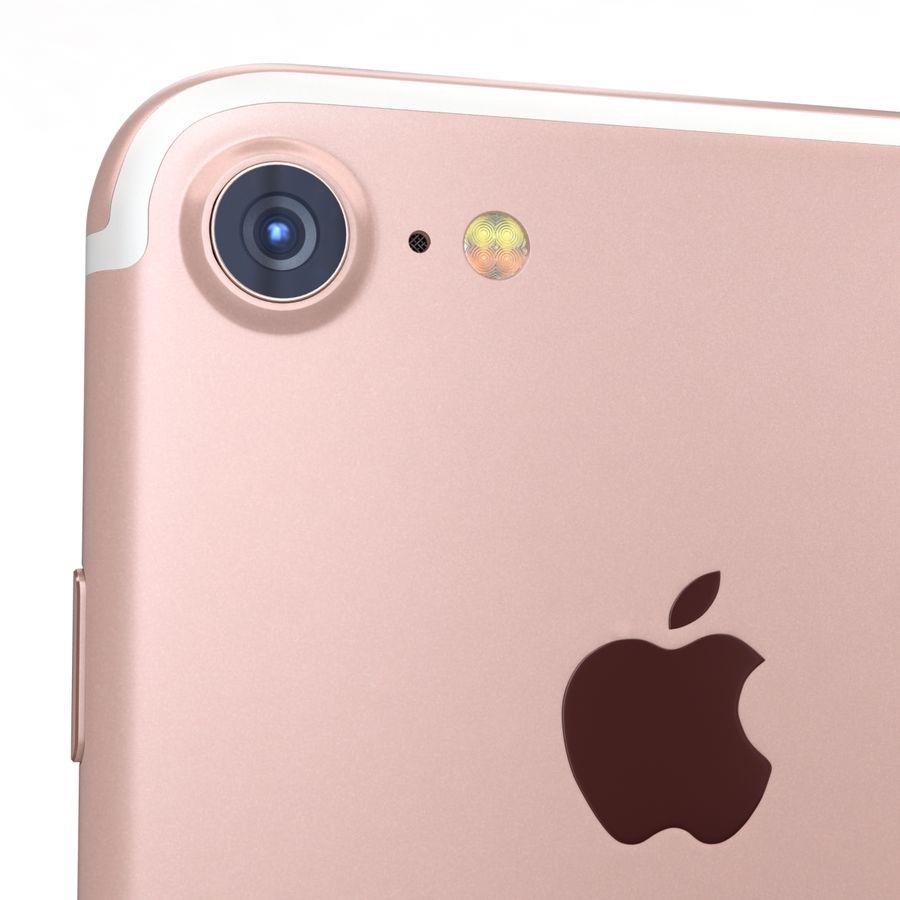 Apple iPhone 7 Gül Altın royalty-free 3d model - Preview no. 20