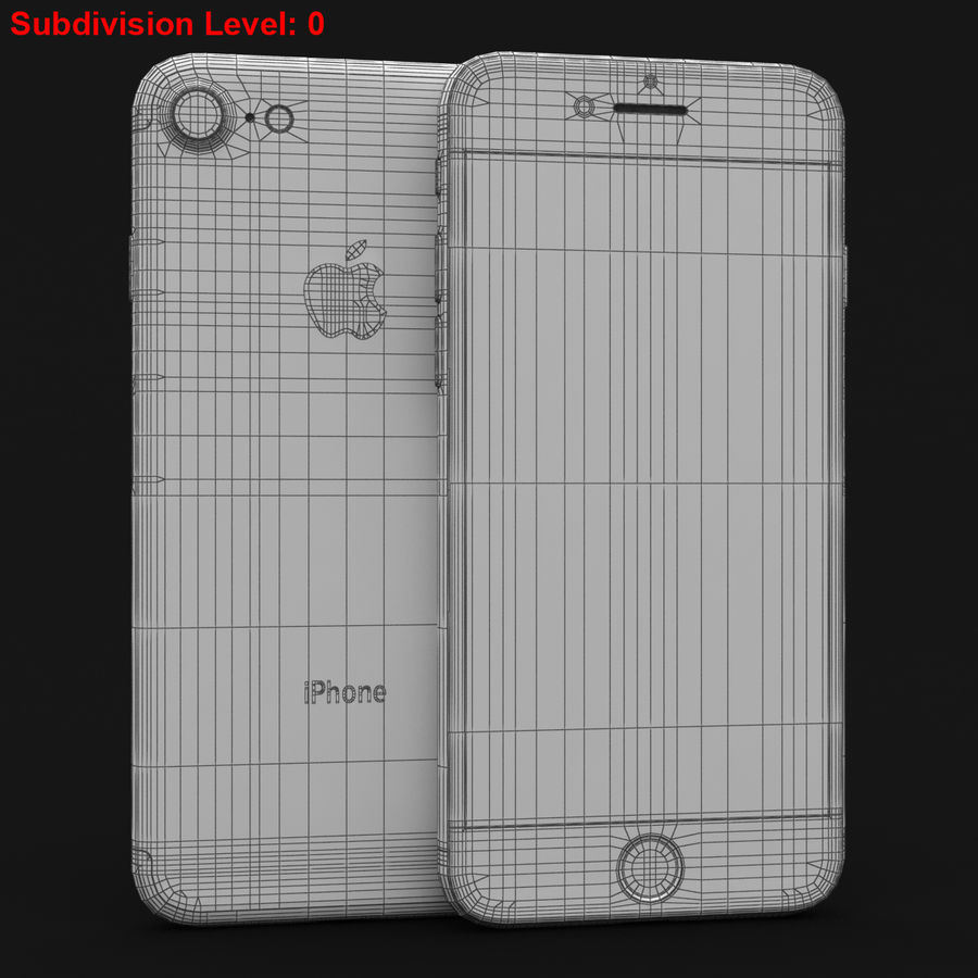 Apple iPhone 7 Gül Altın royalty-free 3d model - Preview no. 29