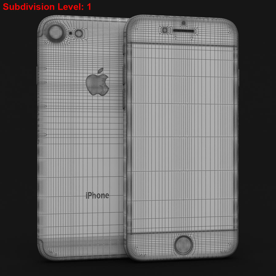 Apple iPhone 7 Gül Altın royalty-free 3d model - Preview no. 28