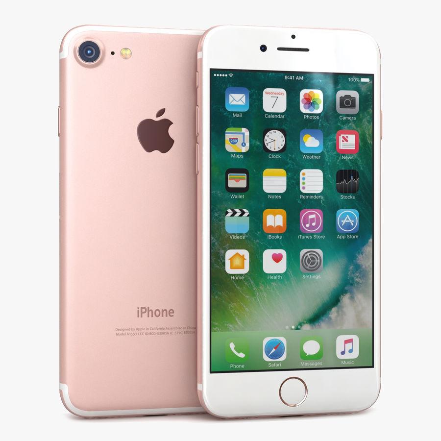 Apple iPhone 7 Gül Altın royalty-free 3d model - Preview no. 1