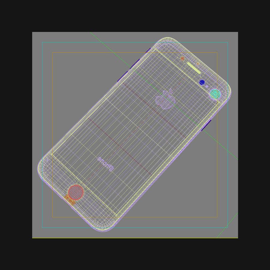 Apple iPhone 7 Gül Altın royalty-free 3d model - Preview no. 44