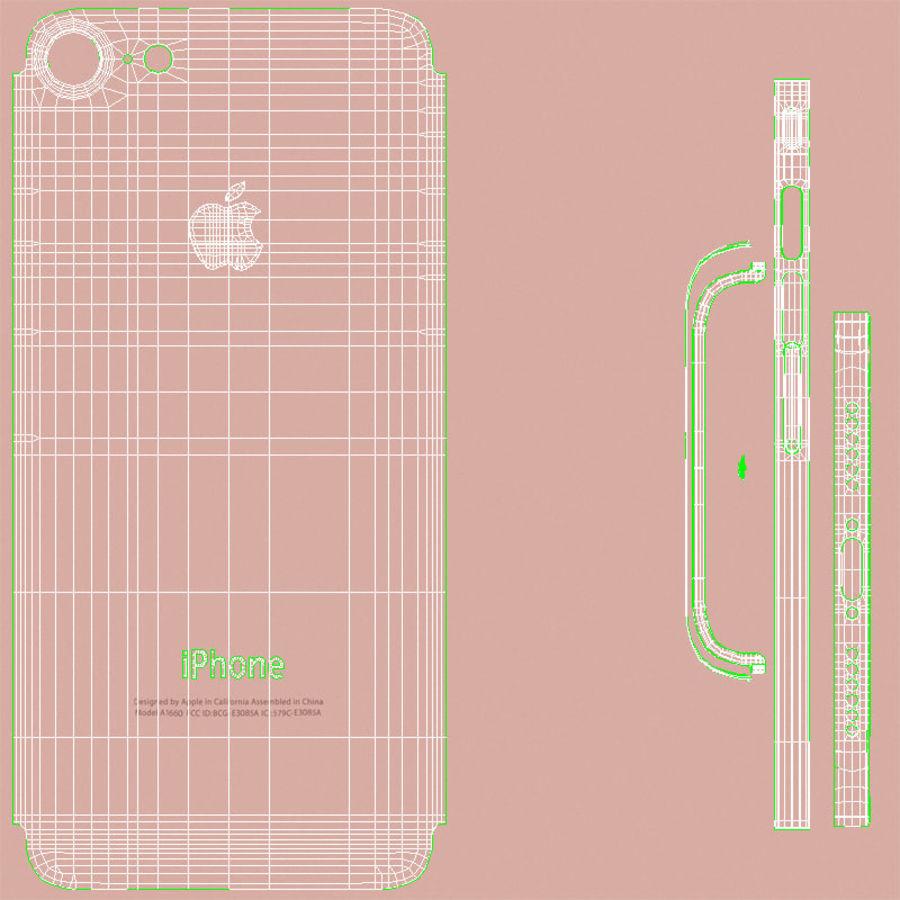 Apple iPhone 7 Gül Altın royalty-free 3d model - Preview no. 26