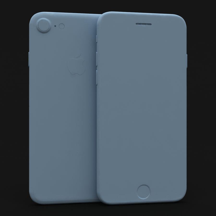 Apple iPhone 7 Gül Altın royalty-free 3d model - Preview no. 27