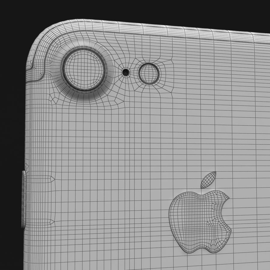 Apple iPhone 7 Gül Altın royalty-free 3d model - Preview no. 36