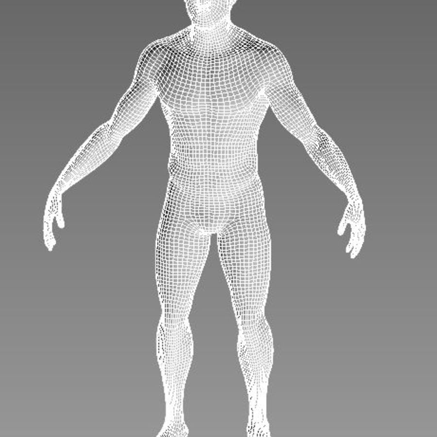 Anatomy based character (2) royalty-free 3d model - Preview no. 2