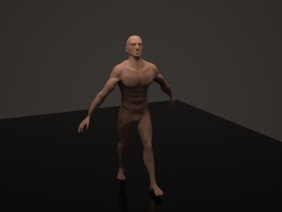 Anatomy based character (2) royalty-free 3d model - Preview no. 6