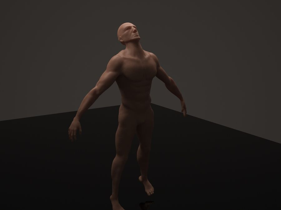 Anatomy based character (2) royalty-free 3d model - Preview no. 7