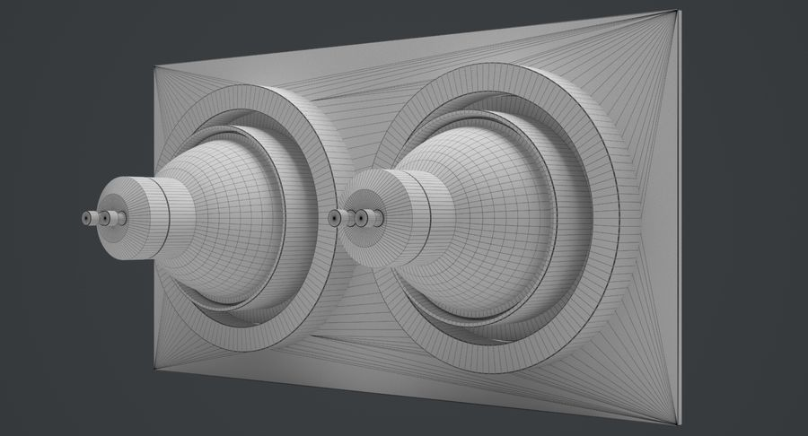 Spotlight A Collection royalty-free 3d model - Preview no. 25