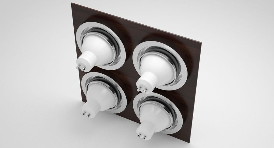 Spotlight A Collection royalty-free 3d model - Preview no. 39