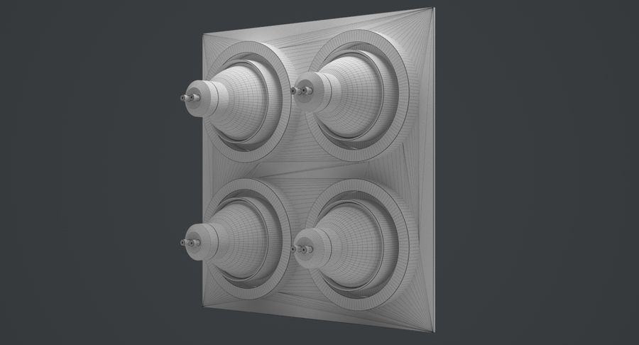 Spotlight A Collection royalty-free 3d model - Preview no. 41