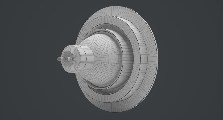 Spotlight A Collection royalty-free 3d model - Preview no. 9