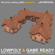Lowpoly old brick building - old_brick_building_002e.rar 3d model
