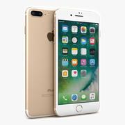 Apple iPhone 7 Plus Dourado 3d model
