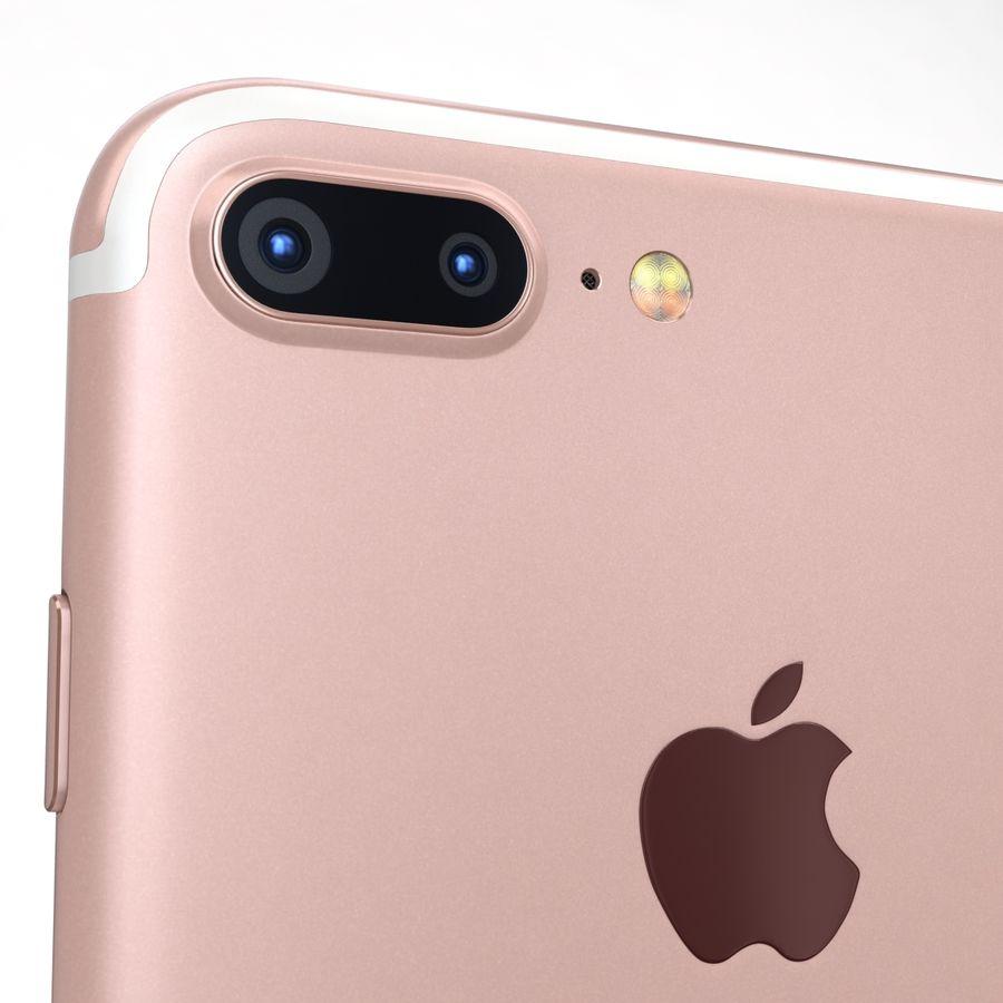 Apple iPhone 7 Artı Gül Altın royalty-free 3d model - Preview no. 19