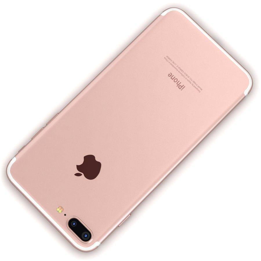 Apple iPhone 7 Artı Gül Altın royalty-free 3d model - Preview no. 12