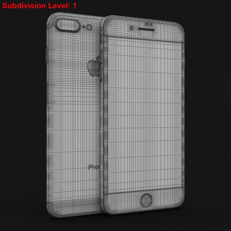 Apple iPhone 7 Artı Gül Altın royalty-free 3d model - Preview no. 27