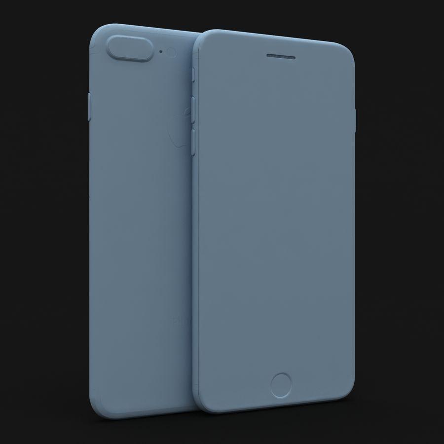 Apple iPhone 7 Artı Gül Altın royalty-free 3d model - Preview no. 26