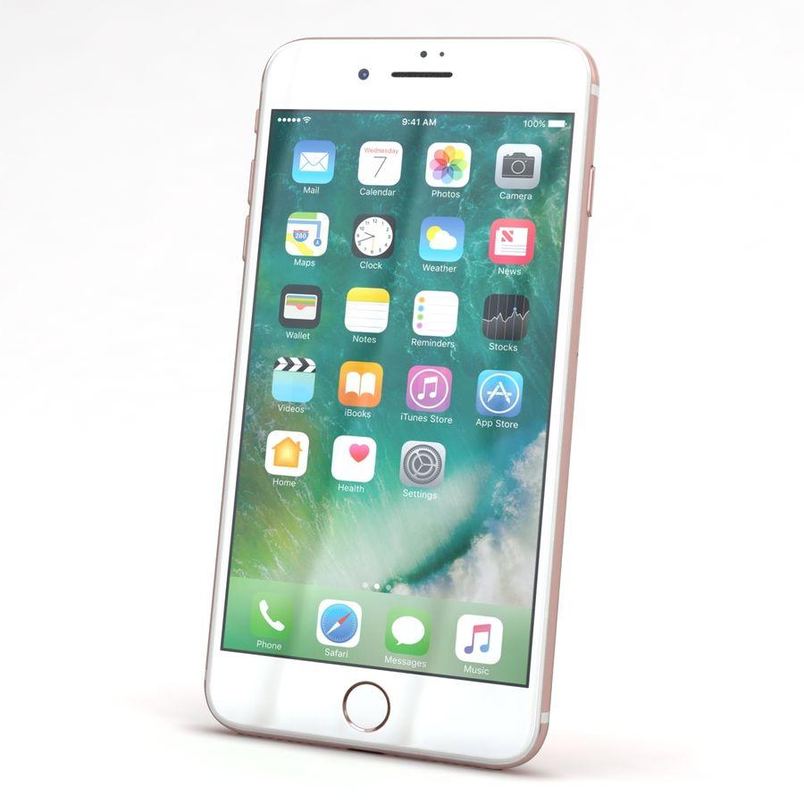Apple iPhone 7 Artı Gül Altın royalty-free 3d model - Preview no. 3