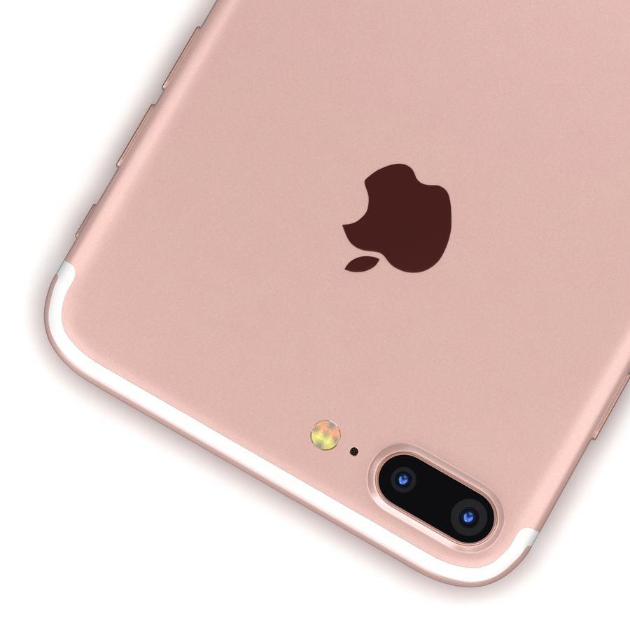 Apple iPhone 7 Artı Gül Altın royalty-free 3d model - Preview no. 14