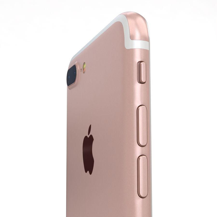Apple iPhone 7 Artı Gül Altın royalty-free 3d model - Preview no. 18