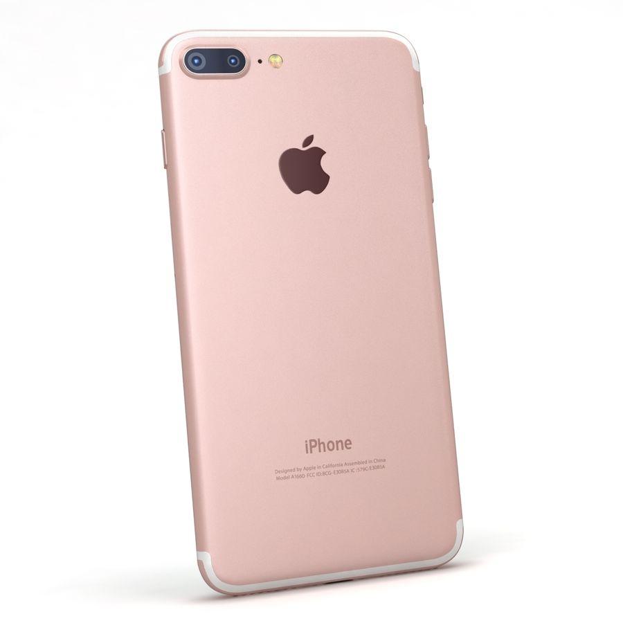 Apple iPhone 7 Artı Gül Altın royalty-free 3d model - Preview no. 6