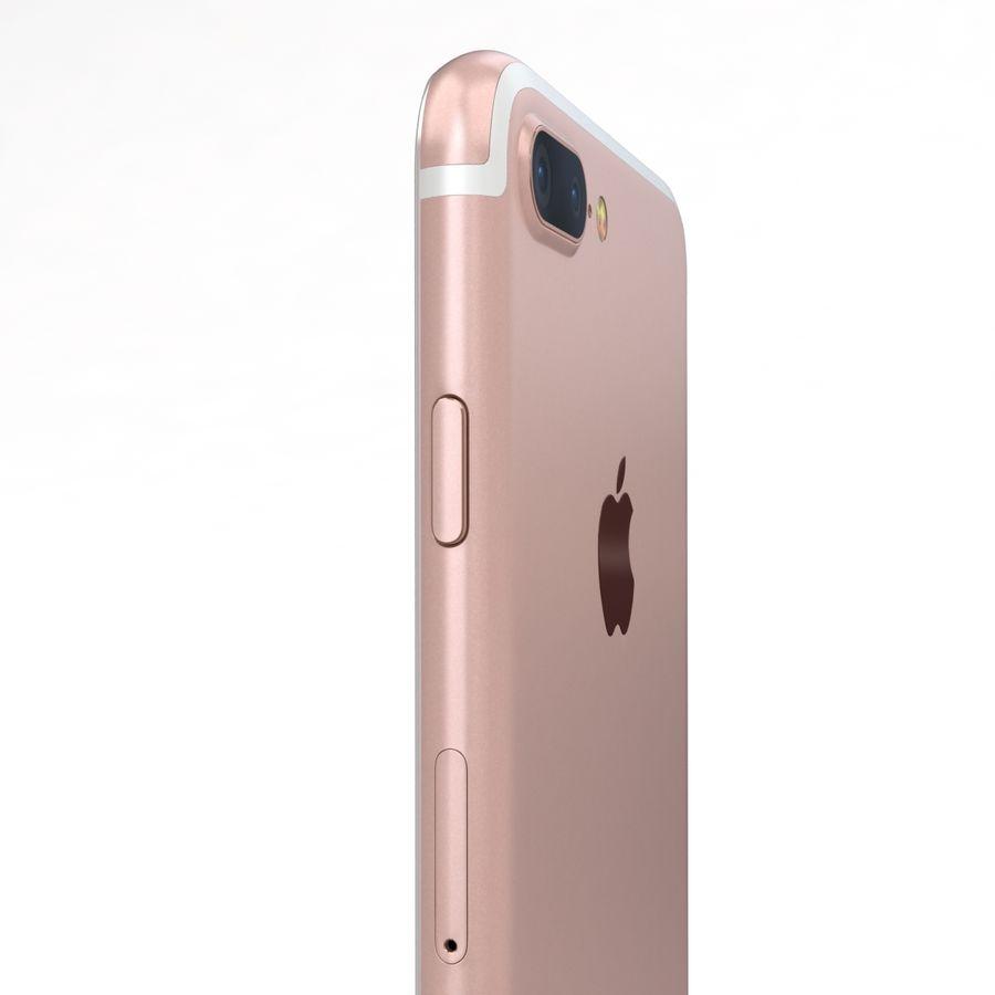 Apple iPhone 7 Artı Gül Altın royalty-free 3d model - Preview no. 17