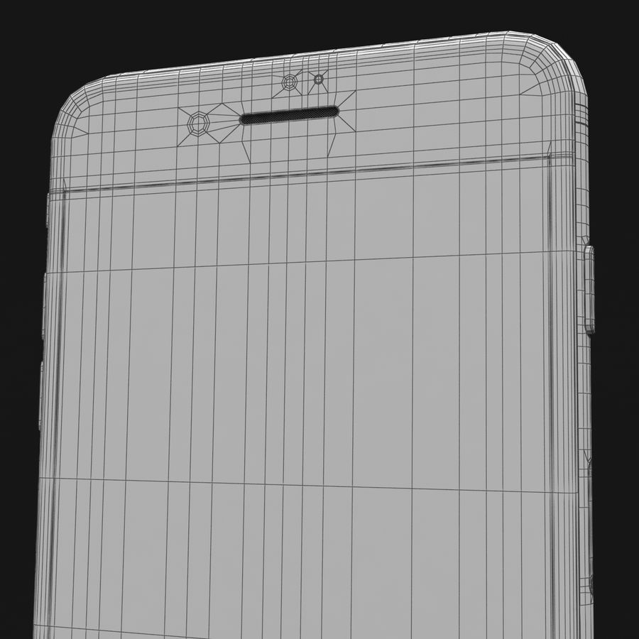 Apple iPhone 7 Artı Gül Altın royalty-free 3d model - Preview no. 40