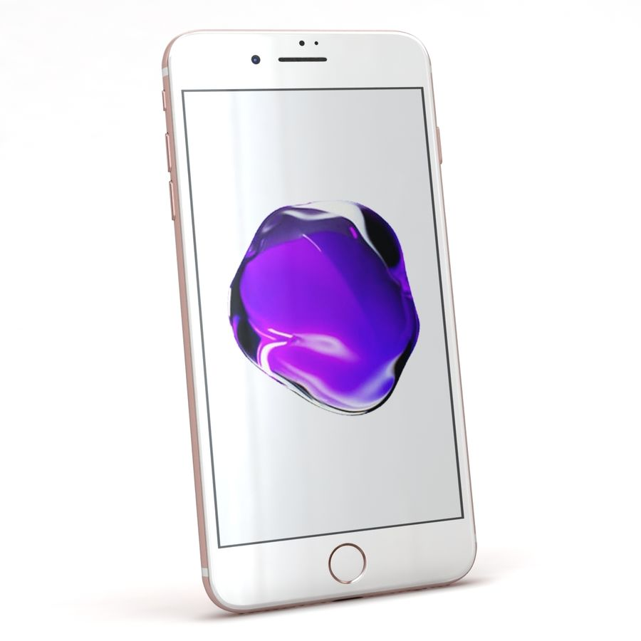 Apple iPhone 7 Artı Gül Altın royalty-free 3d model - Preview no. 4