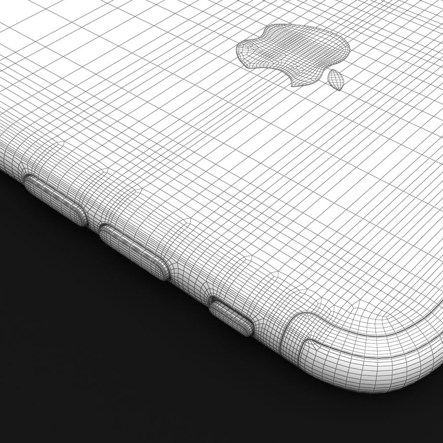 Apple iPhone 7 Artı Gül Altın royalty-free 3d model - Preview no. 41