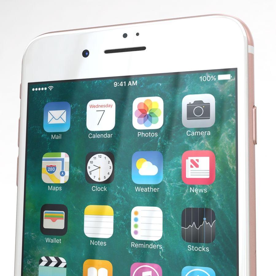 Apple iPhone 7 Artı Gül Altın royalty-free 3d model - Preview no. 24