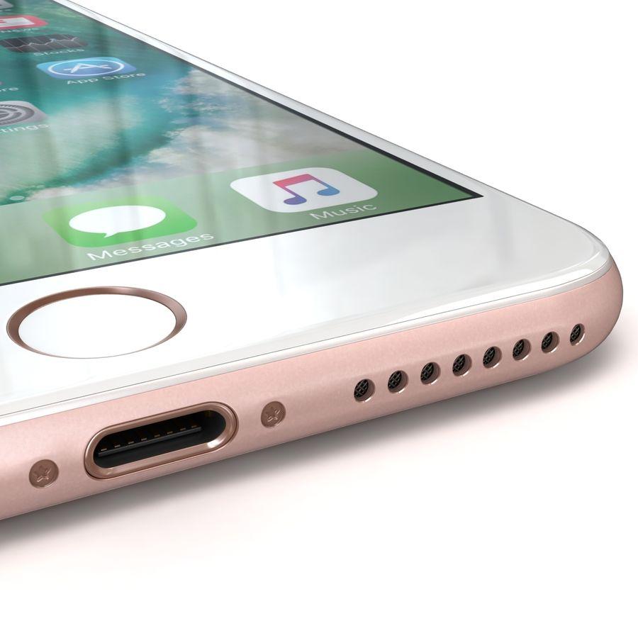 Apple iPhone 7 Artı Gül Altın royalty-free 3d model - Preview no. 16