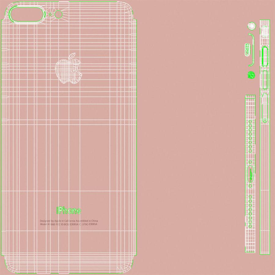 Apple iPhone 7 Artı Gül Altın royalty-free 3d model - Preview no. 25