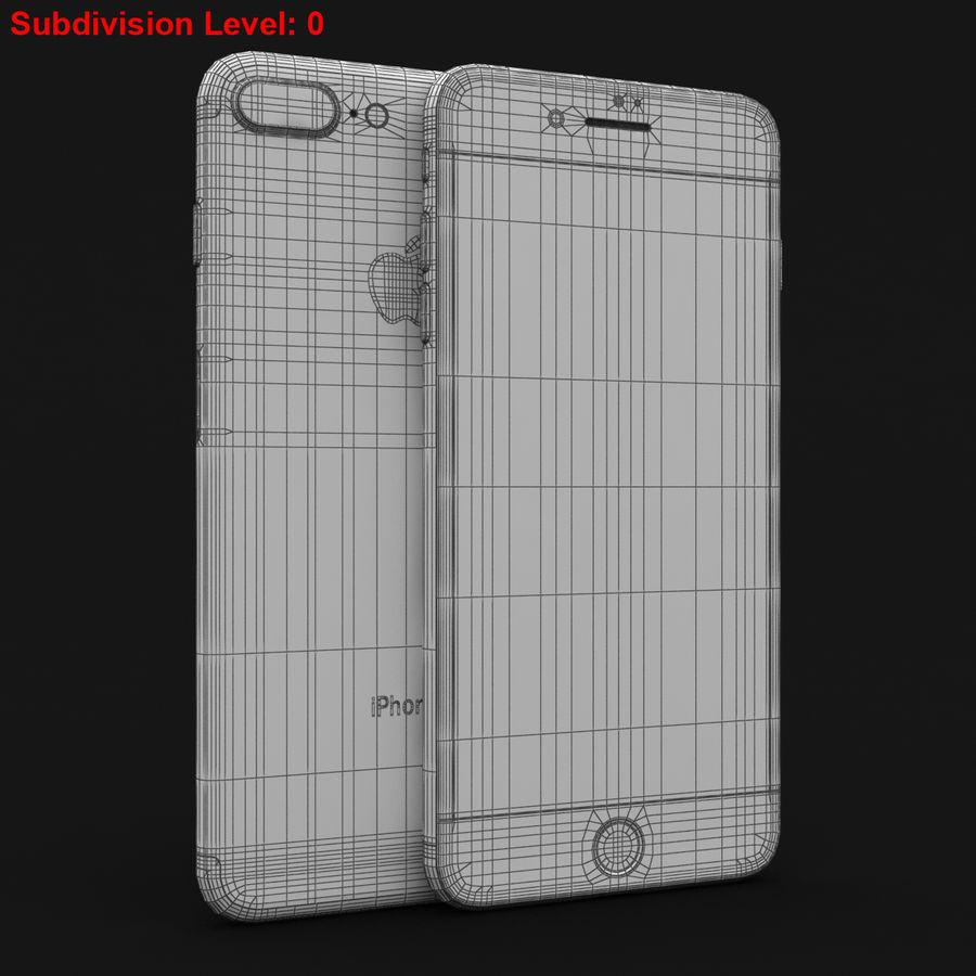 Apple iPhone 7 Artı Gül Altın royalty-free 3d model - Preview no. 28