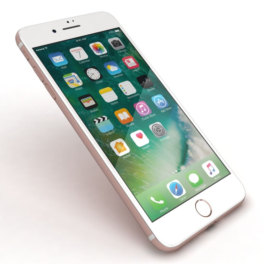 Apple iPhone 7 Artı Gül Altın royalty-free 3d model - Preview no. 20