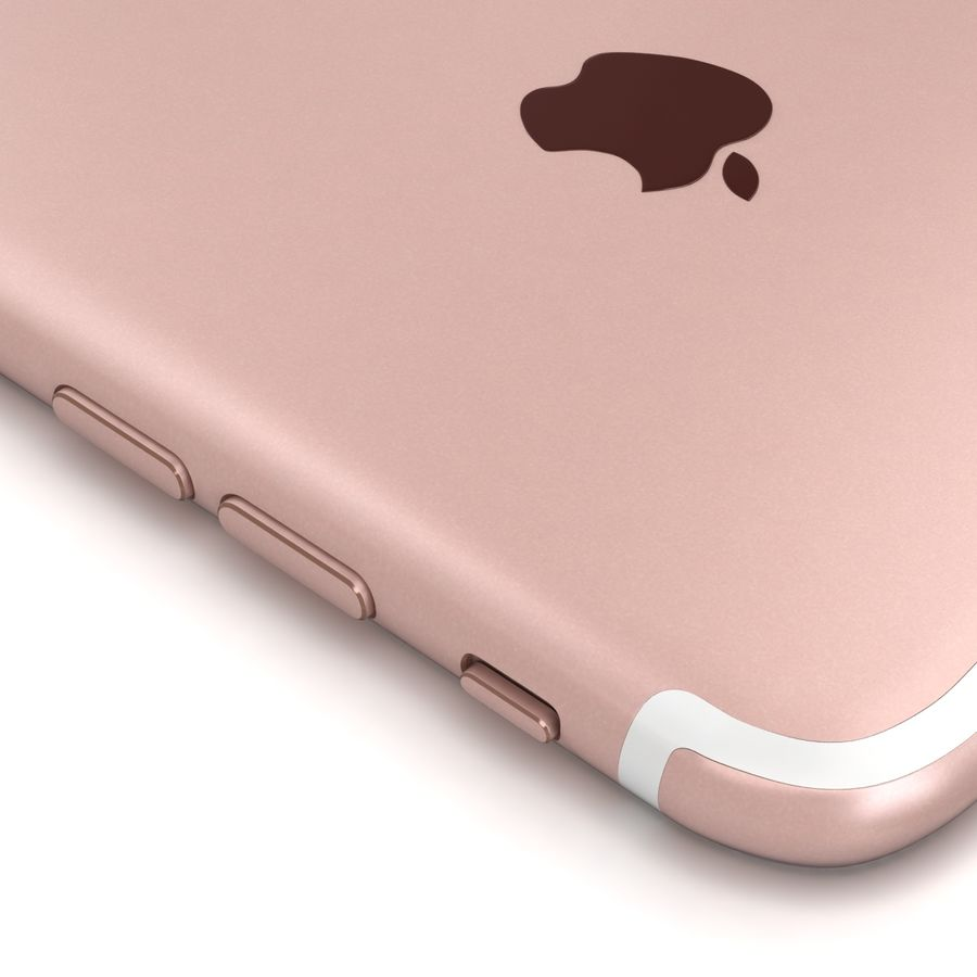 Apple iPhone 7 Artı Gül Altın royalty-free 3d model - Preview no. 15