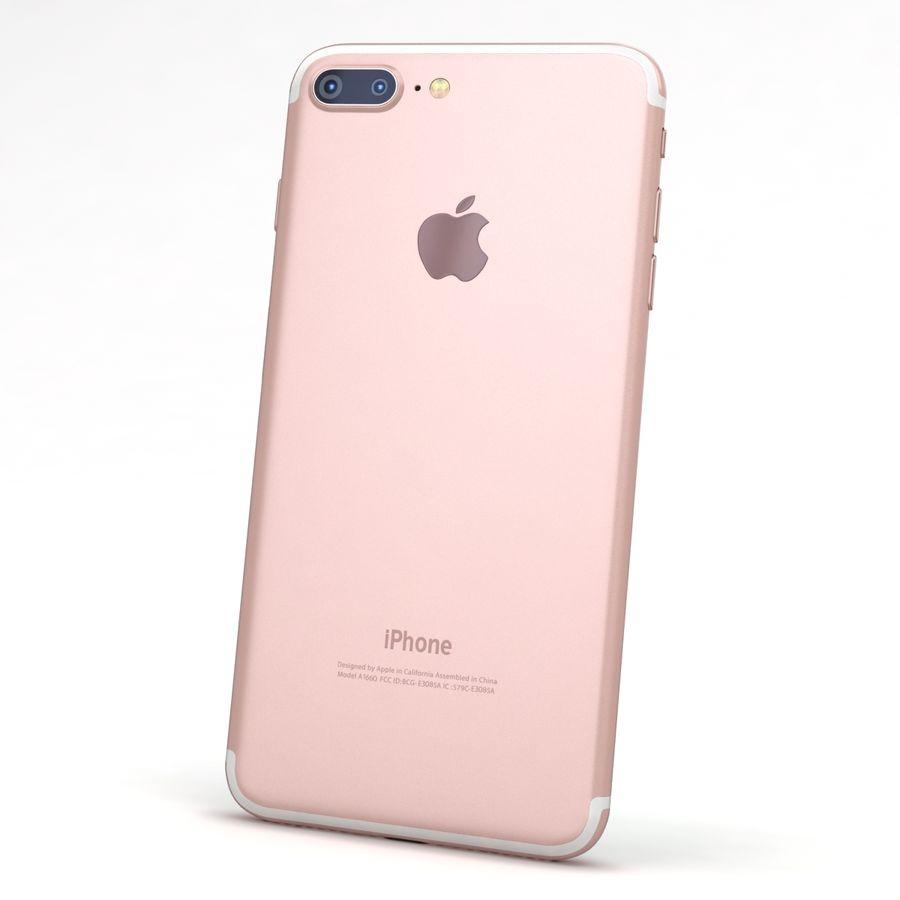 Apple iPhone 7 Artı Gül Altın royalty-free 3d model - Preview no. 5