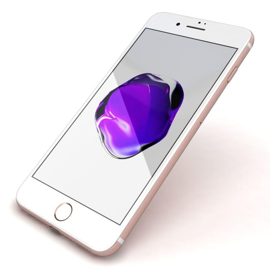 Apple iPhone 7 Artı Gül Altın royalty-free 3d model - Preview no. 21