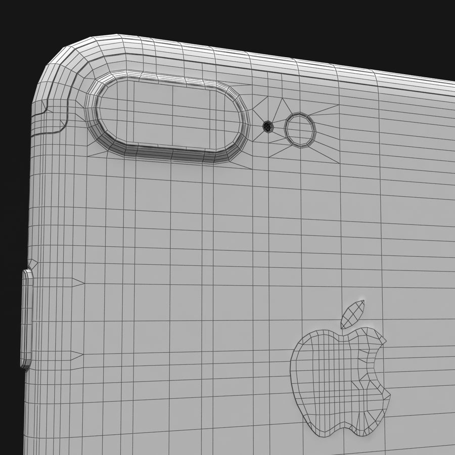 Apple iPhone 7 Artı Gül Altın royalty-free 3d model - Preview no. 34