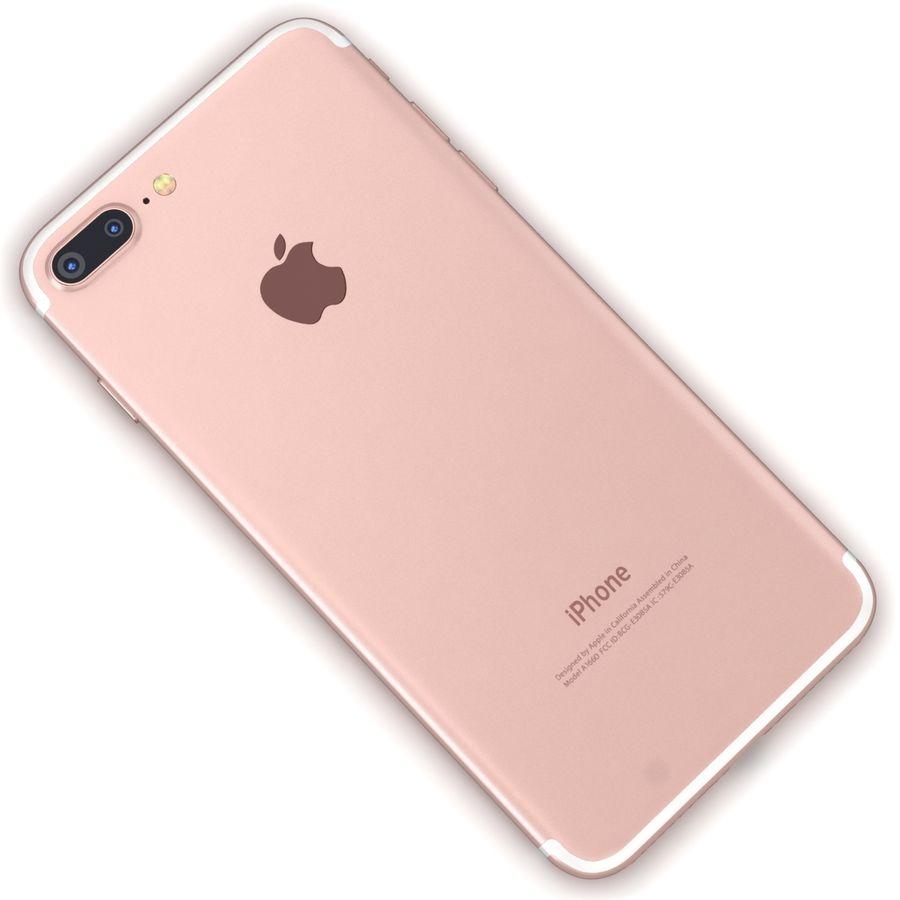 Apple iPhone 7 Artı Gül Altın royalty-free 3d model - Preview no. 11