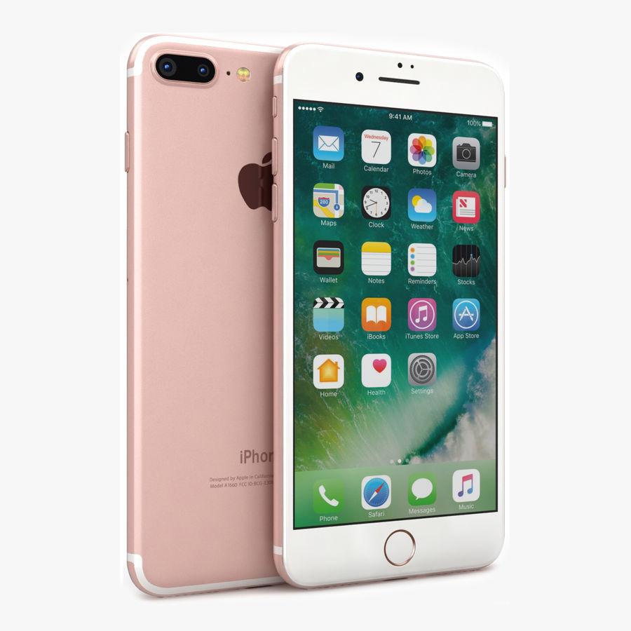 Apple iPhone 7 Artı Gül Altın royalty-free 3d model - Preview no. 1
