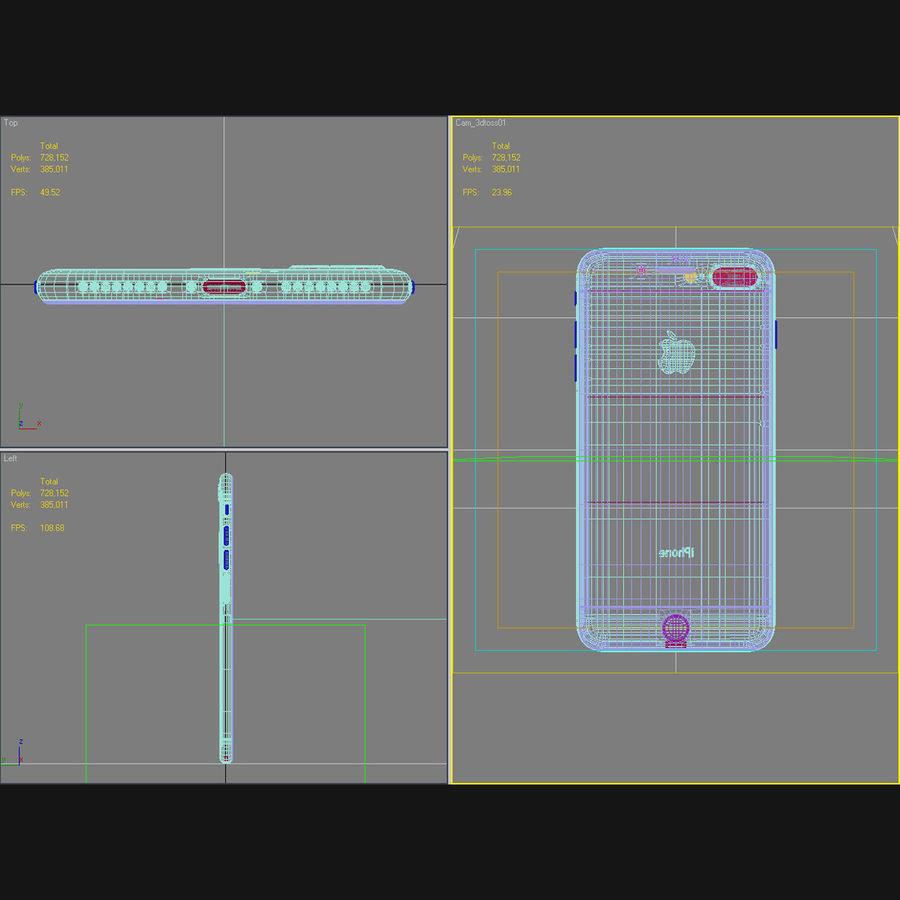 Apple iPhone 7 Artı Gül Altın royalty-free 3d model - Preview no. 46