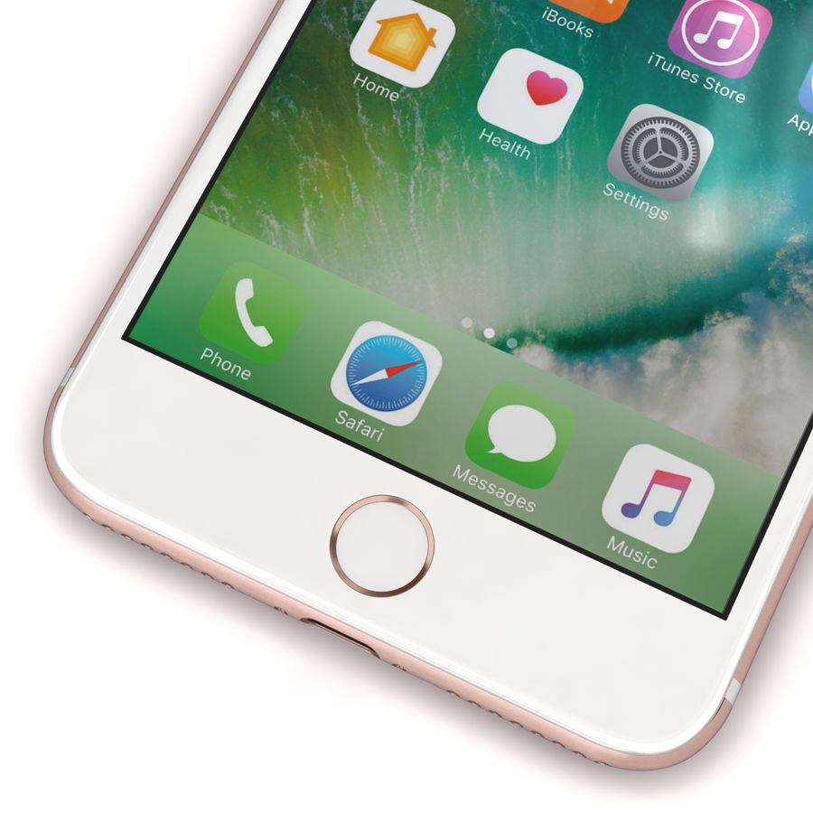 Apple iPhone 7 Artı Gül Altın royalty-free 3d model - Preview no. 9