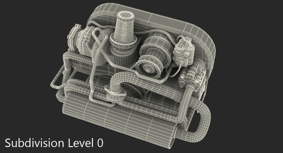 Buggy Engine royalty-free 3d model - Preview no. 9
