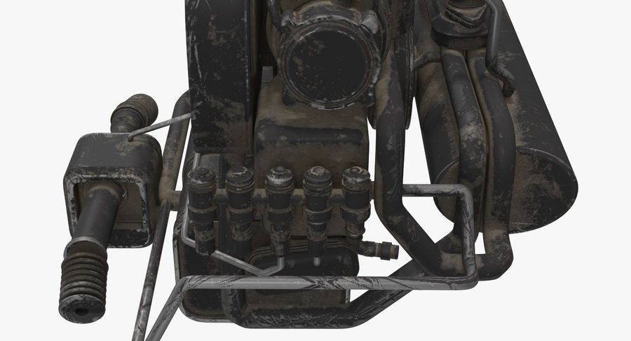 Buggy Engine royalty-free 3d model - Preview no. 8