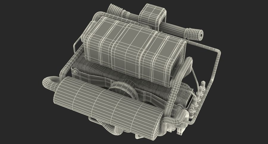 Buggy Engine royalty-free 3d model - Preview no. 16