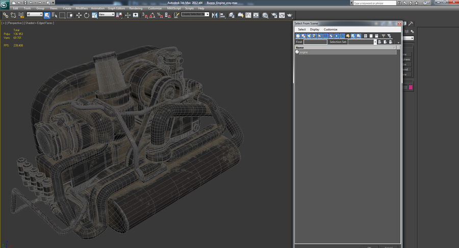 Buggy Engine royalty-free 3d model - Preview no. 13