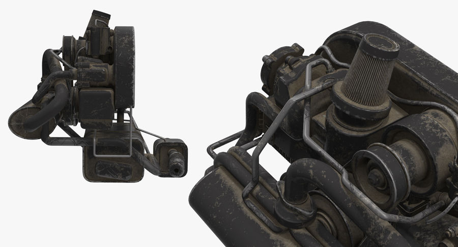 Buggy Engine royalty-free 3d model - Preview no. 4