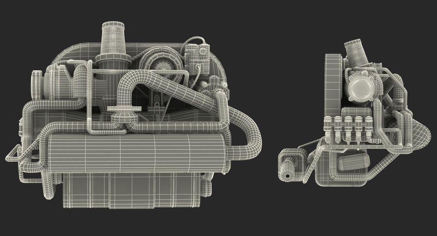 Buggy Engine royalty-free 3d model - Preview no. 14