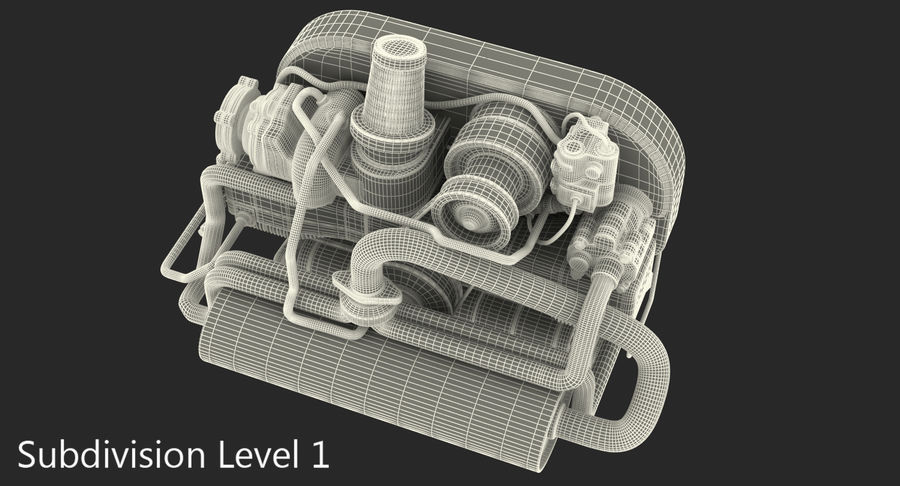 Buggy Engine royalty-free 3d model - Preview no. 10